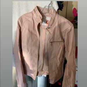 Leather jacket pink
